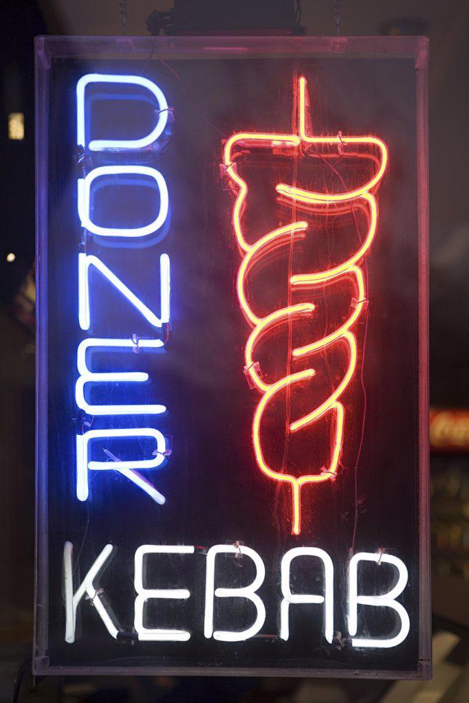 Kebab shop sign : Stock Photo