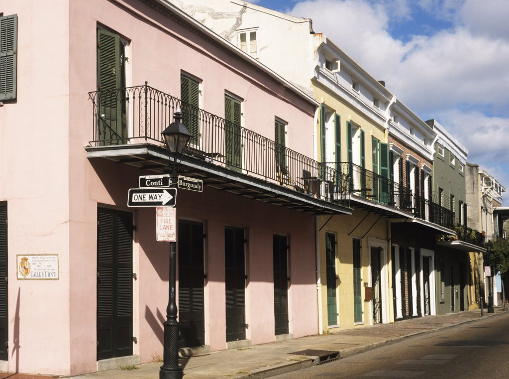 Stock Photo: 1439R-1048478 New orleans street
