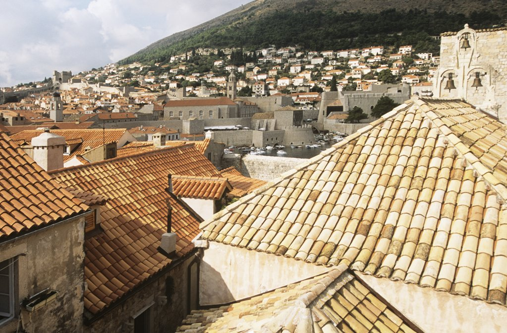 Rooftops of dubrovnik : Stock Photo
