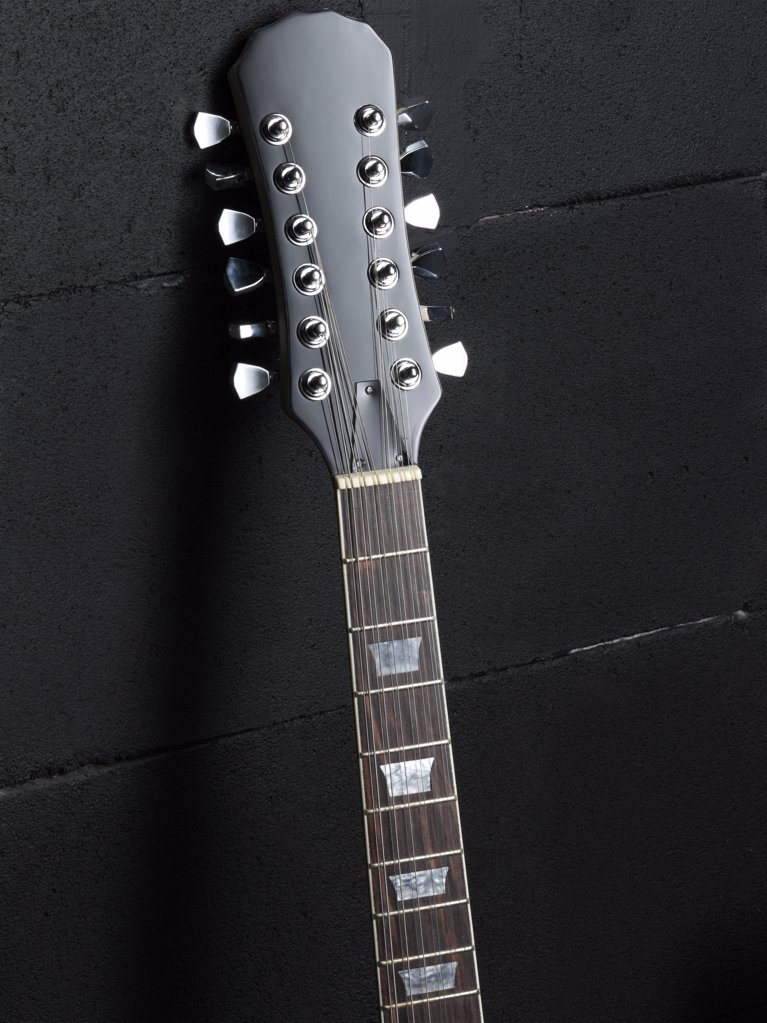 Stock Photo: 1439R-1050686 Electric guitar head