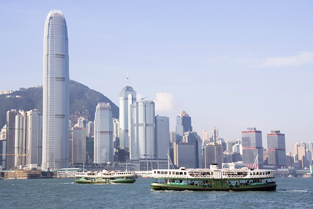 Tourboat in hong kong : Stock Photo