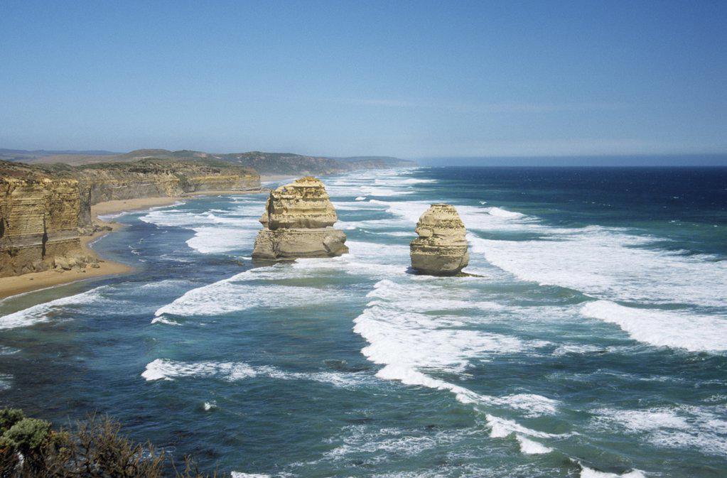 Rocks of the great ocean road : Stock Photo