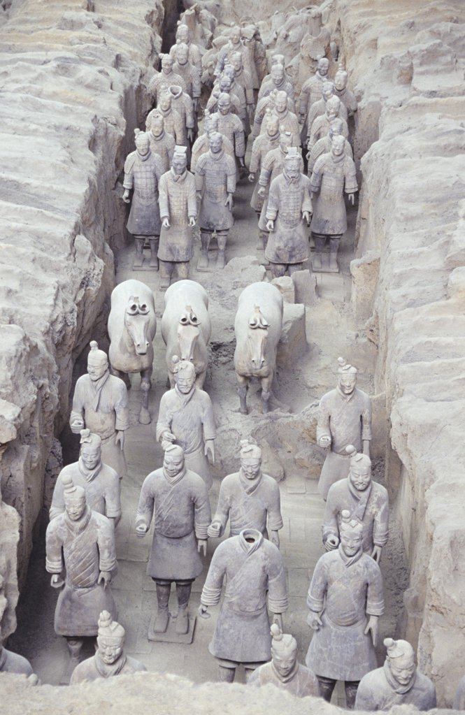 Stock Photo: 1439R-1055238 Terracotta army