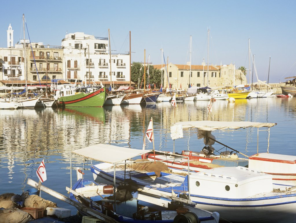 Kyrenia harbour : Stock Photo