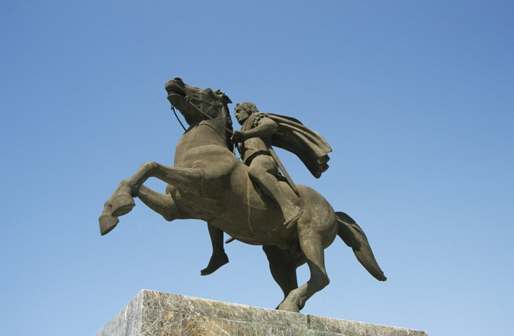 Stock Photo: 1439R-1055447 Statue of alexander the great
