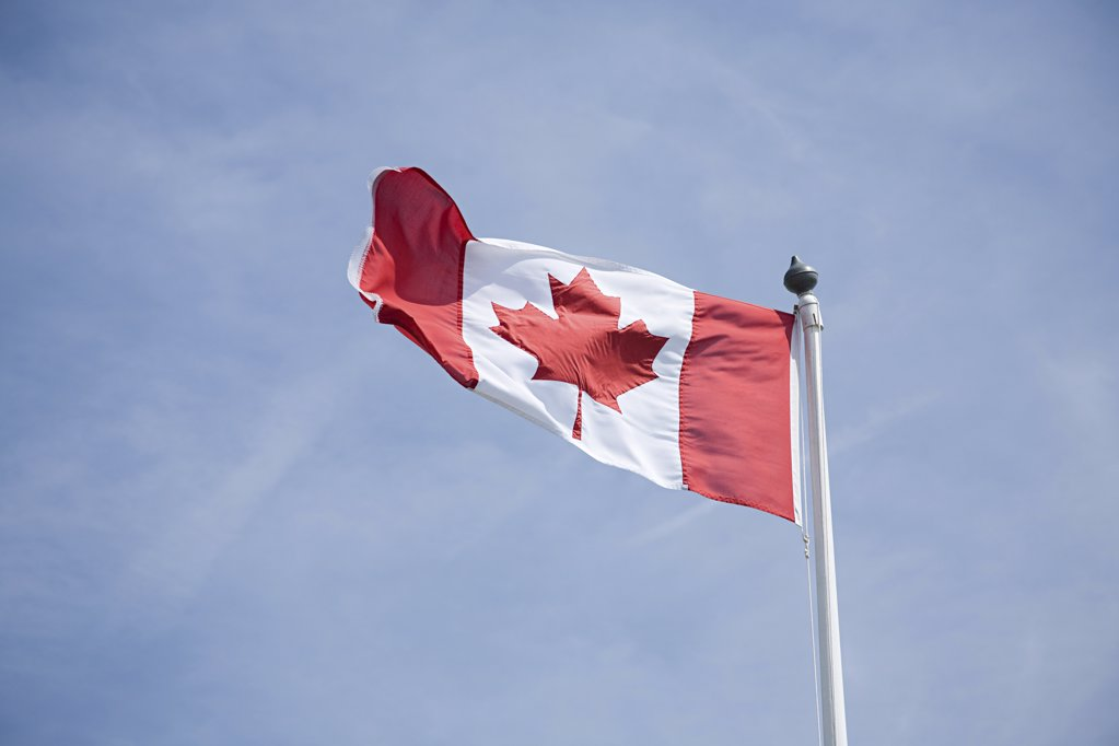 Stock Photo: 1439R-1067678 Canadian flag