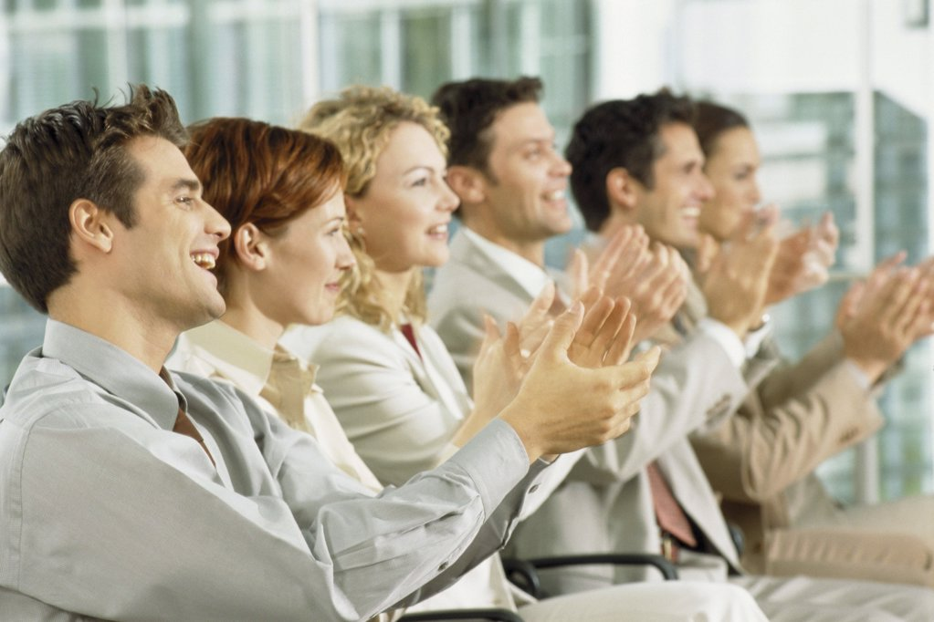 People at presentation : Stock Photo