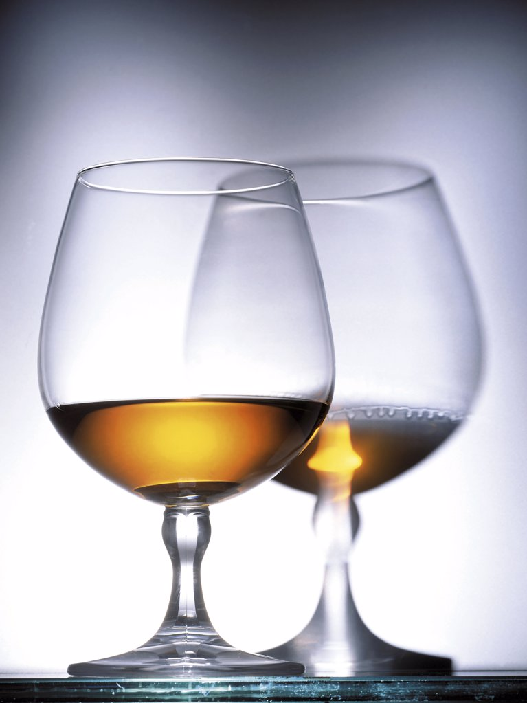 Stock Photo: 1439R-1073290 Glasses of Cognac