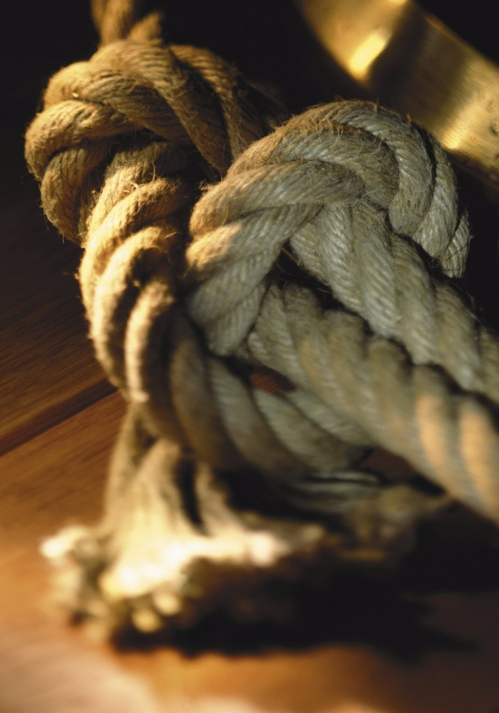 Knotted rope : Stock Photo
