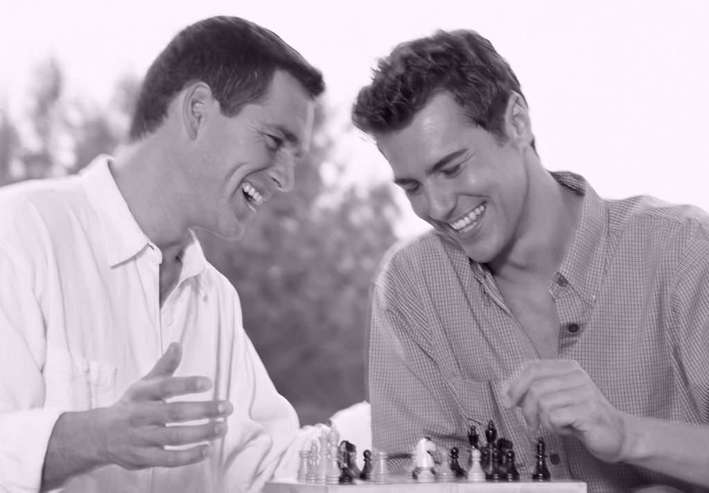 Stock Photo: 1439R-1074452 Men playing chess
