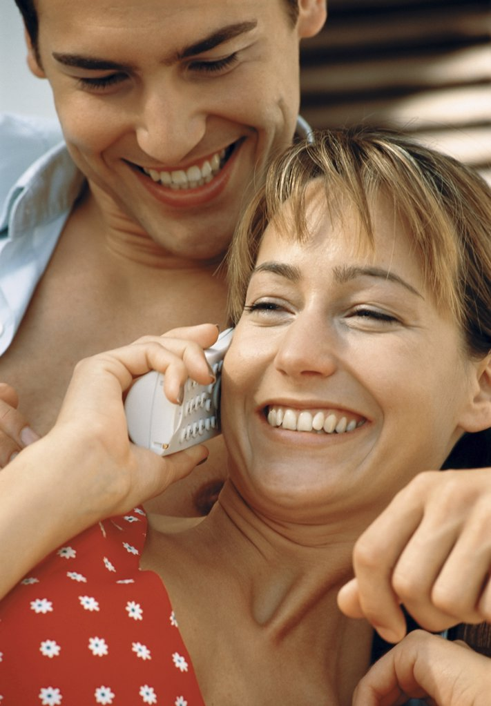 Couple on the phone : Stock Photo