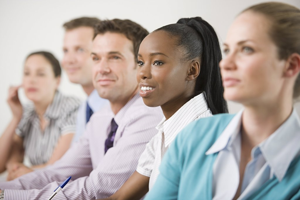 Businesspeople in a meeting : Stock Photo