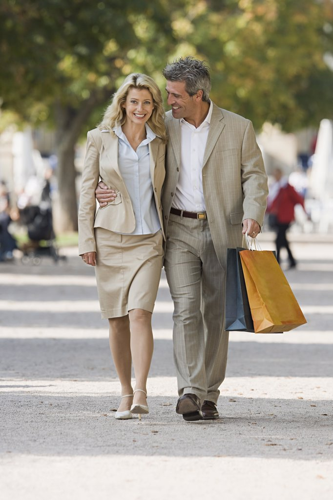 A mature couple walking : Stock Photo