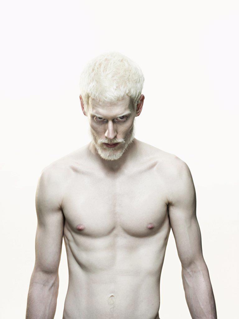 Albino man : Stock Photo