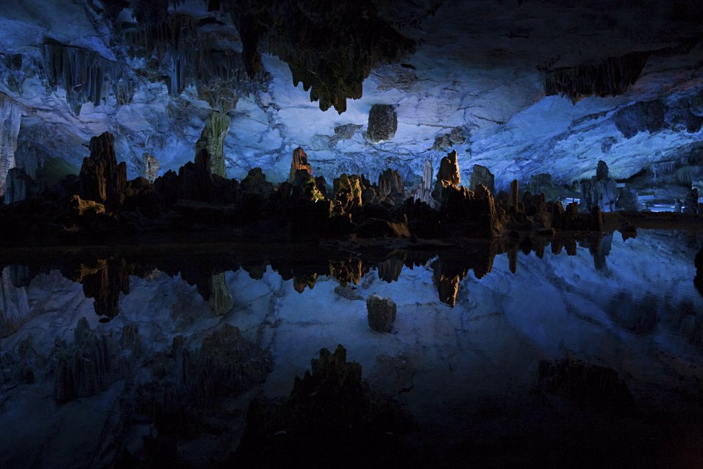 Reed flute cave : Stock Photo