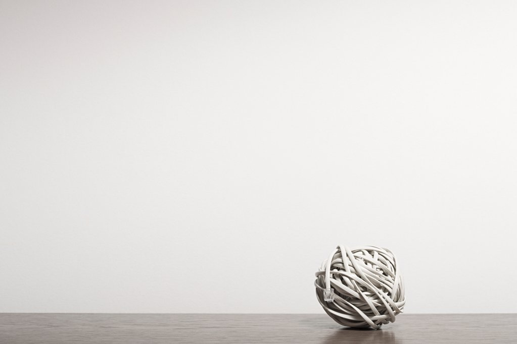 Stock Photo: 1439R-1086186 Cable in a ball
