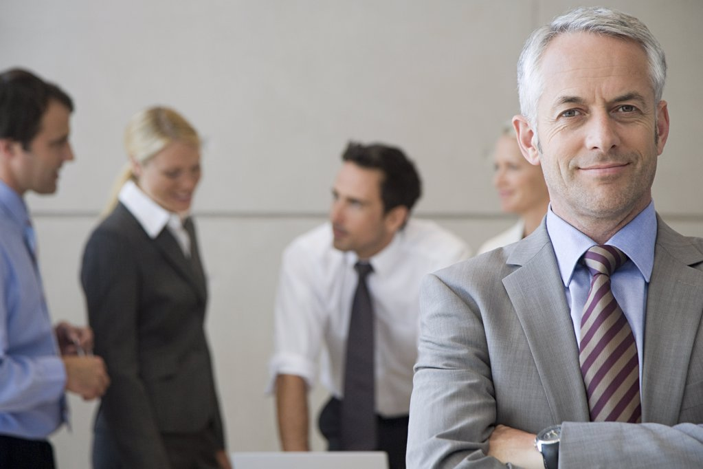 Businessman and colleagues : Stock Photo