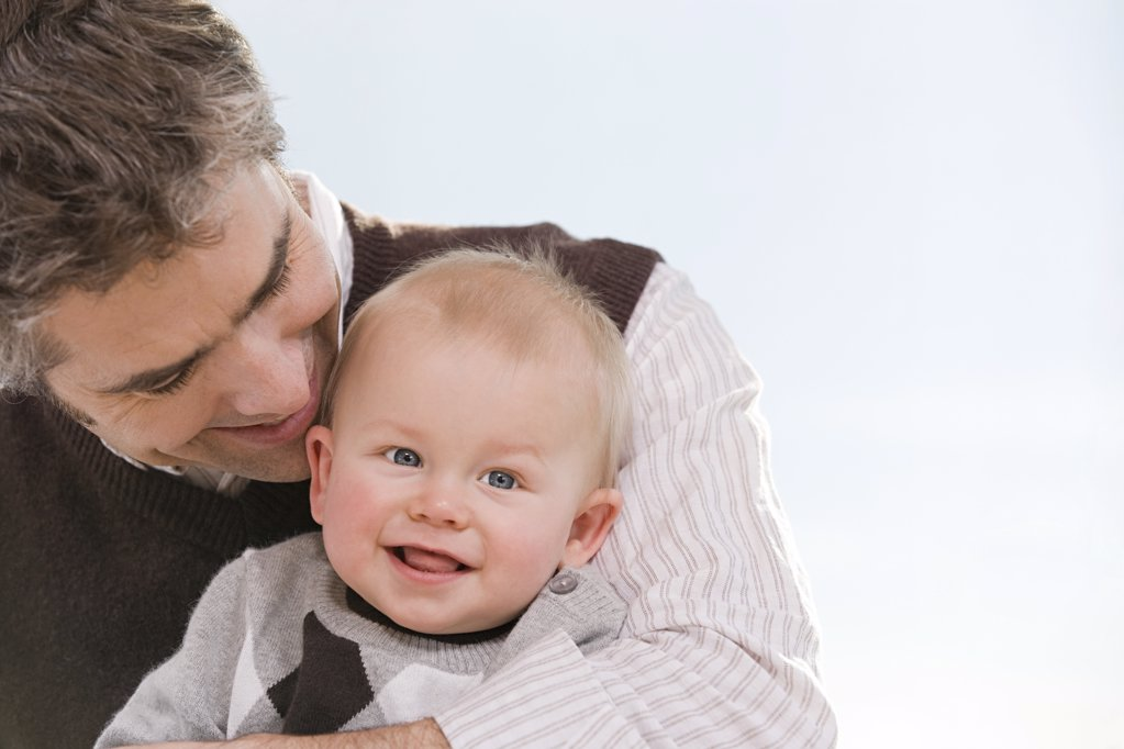 A father and son : Stock Photo