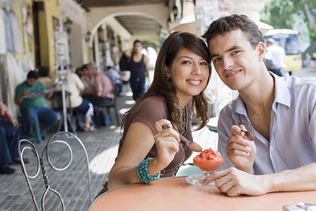 Stock Photo: 1439R-1091281 Couple with dessert