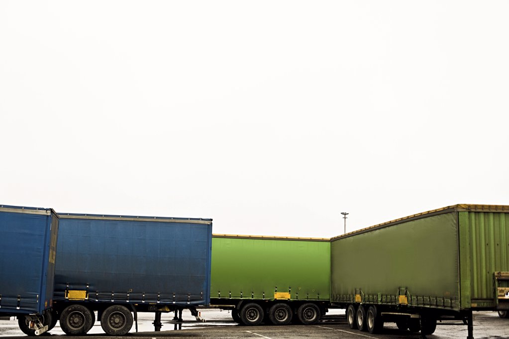 Stock Photo: 1439R-1091917 Semi trailers