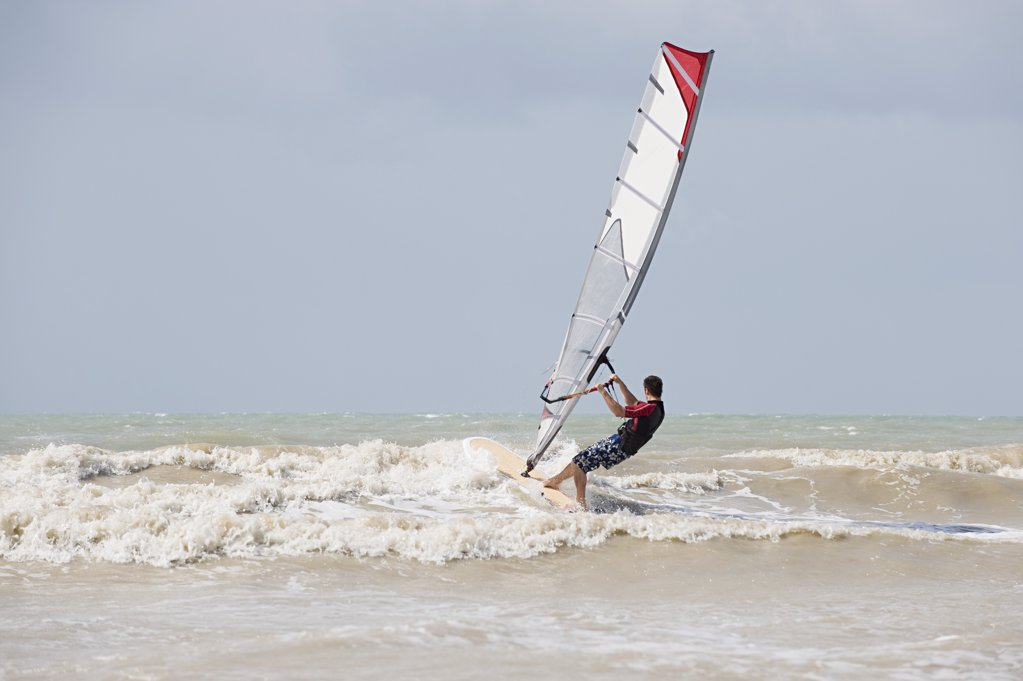 Stock Photo: 1439R-1097114 Windsurfer