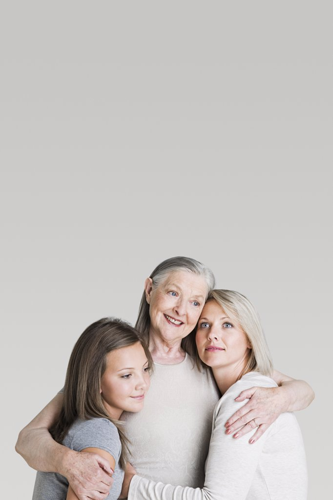 Stock Photo: 1439R-1103597 Female family members hugging