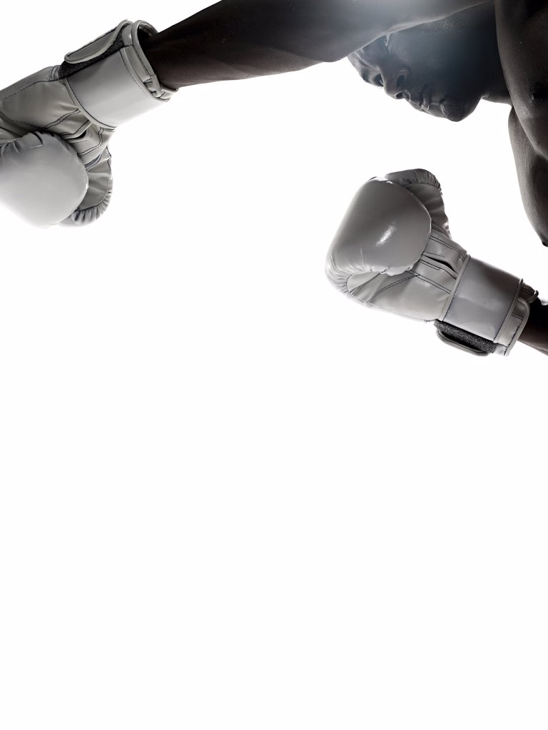 Stock Photo: 1439R-1105274 A man boxing