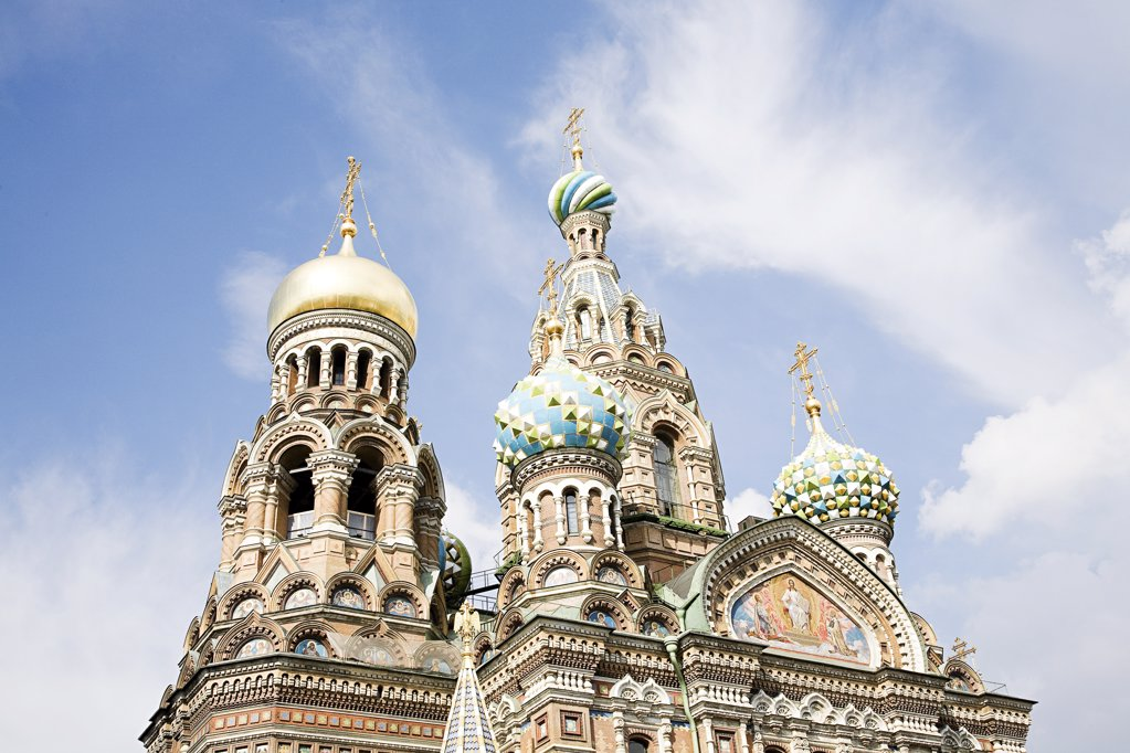 Church of the saviour on spilled blood : Stock Photo