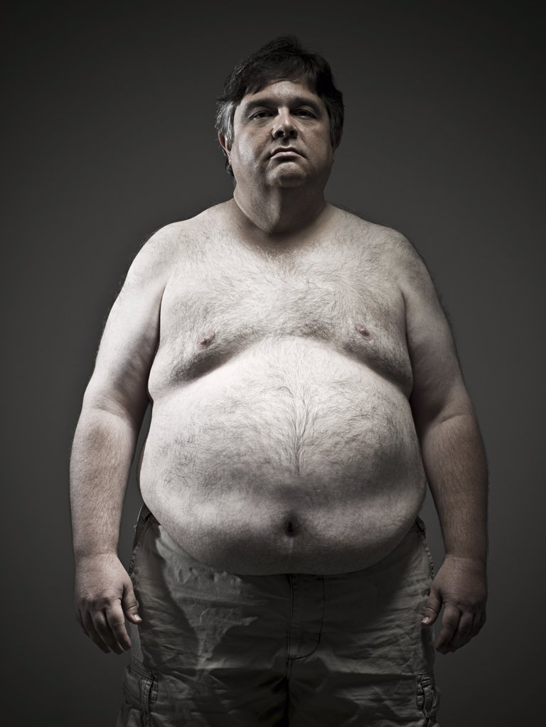 Overweight man : Stock Photo