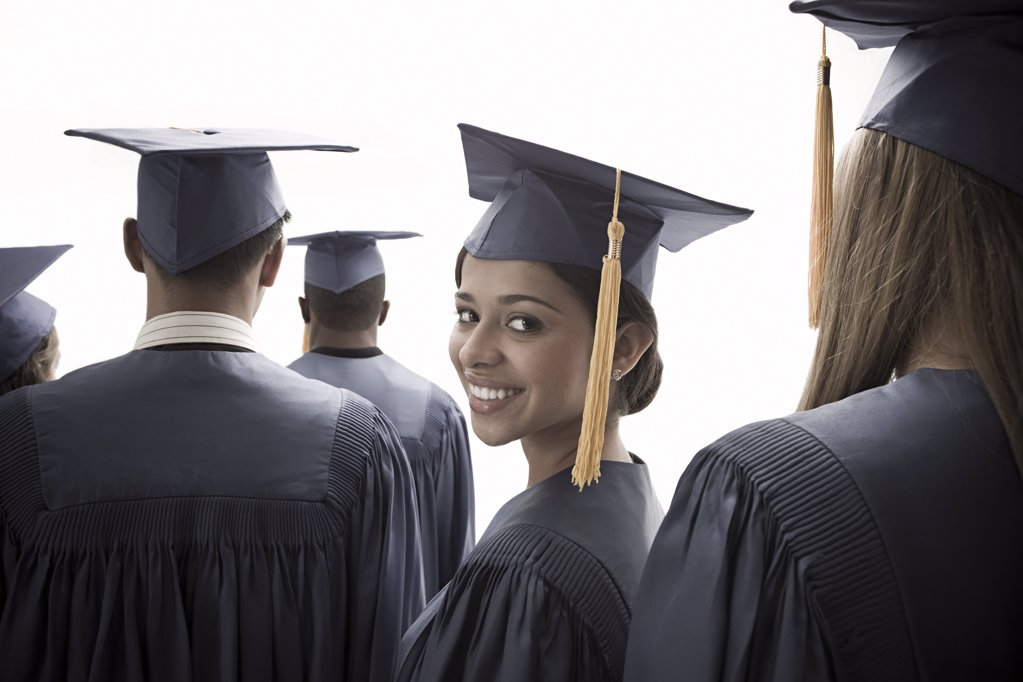 Stock Photo: 1439R-1110606 Girl graduating