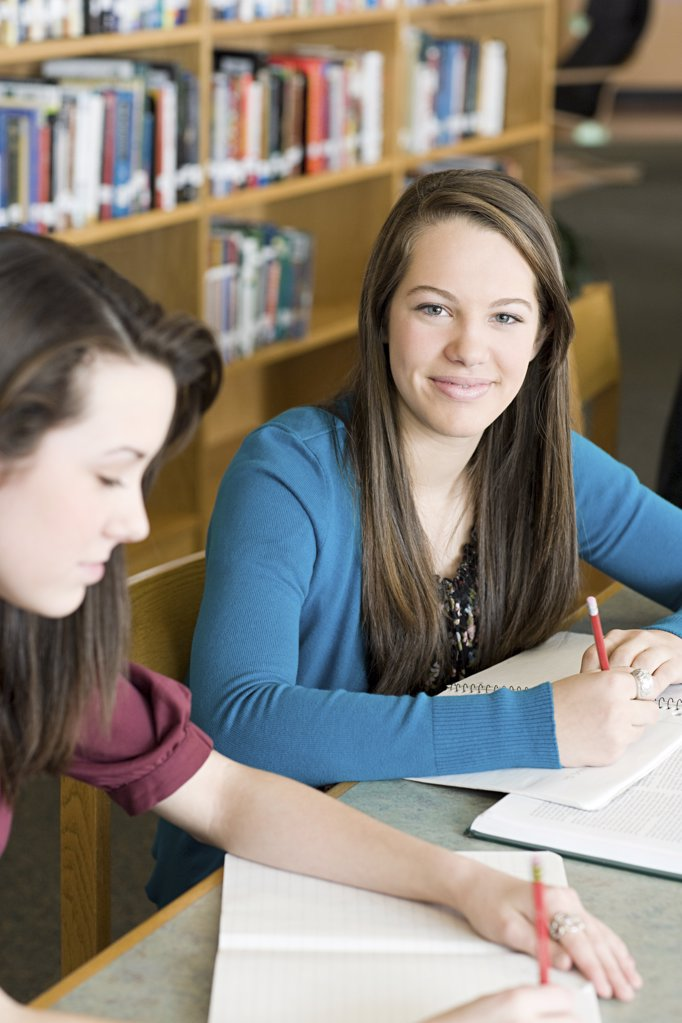 Stock Photo: 1439R-1112338 Girls studying