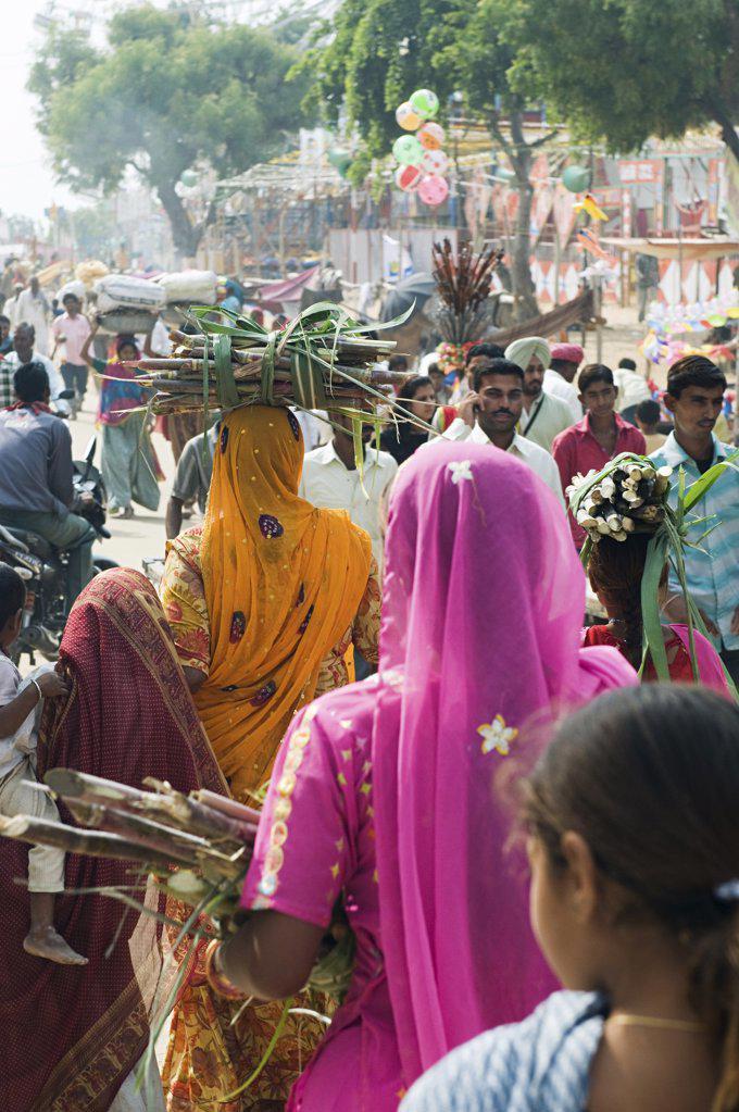 People at pushkar camel festival : Stock Photo