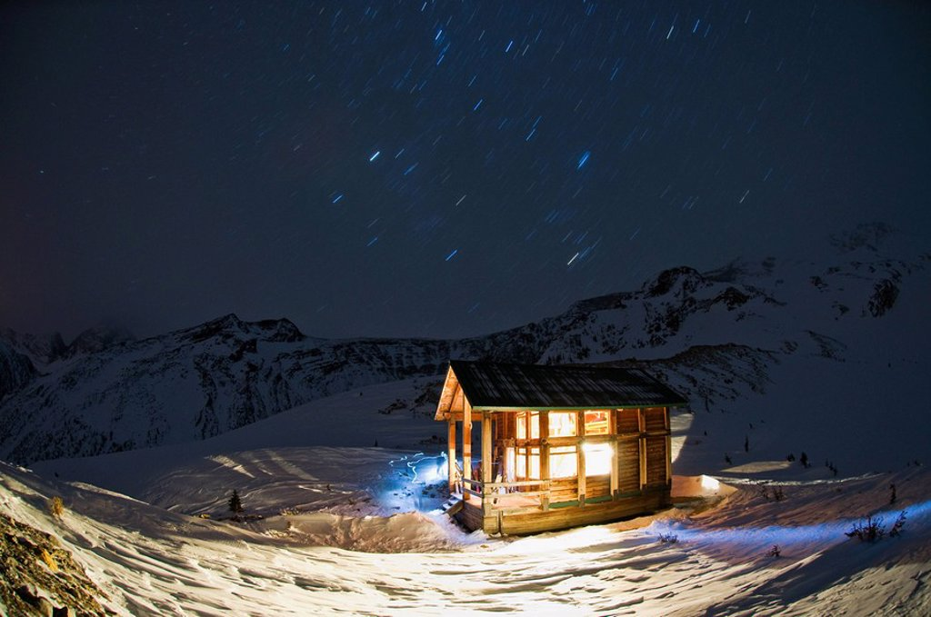 A hut at night : Stock Photo