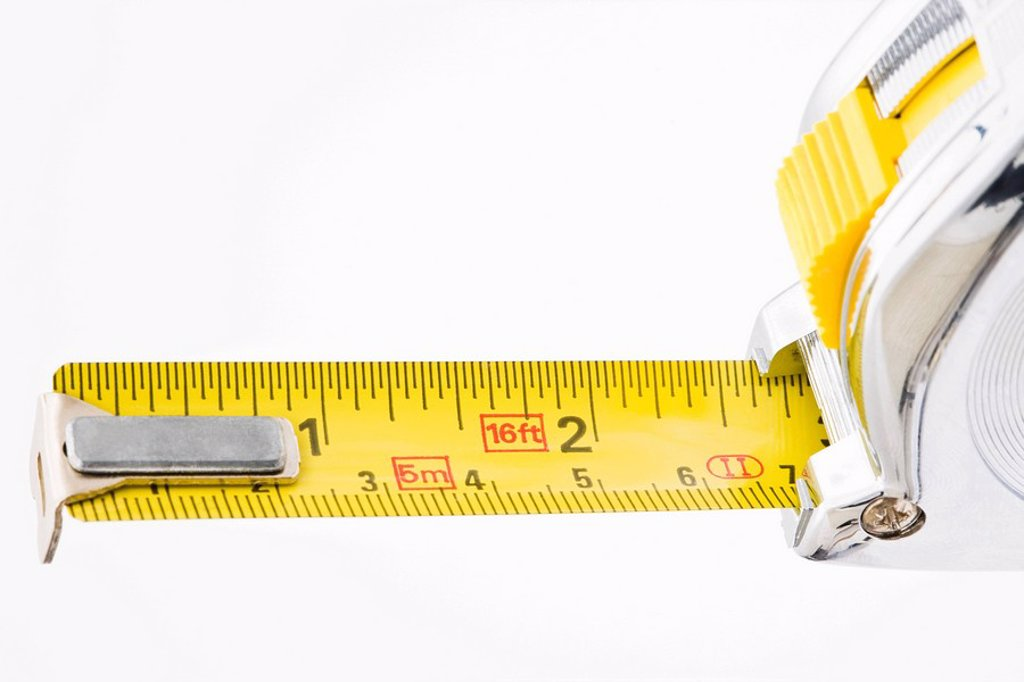 Stock Photo: 1439R-1119968 Tape measure