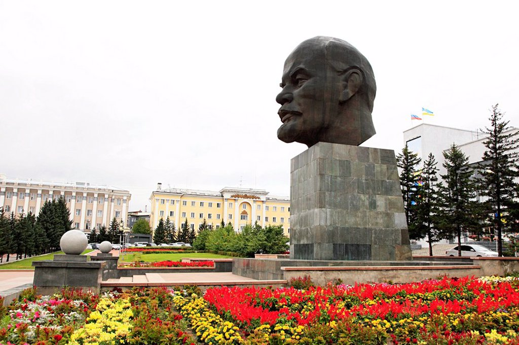 Lenin monument ulan ude : Stock Photo