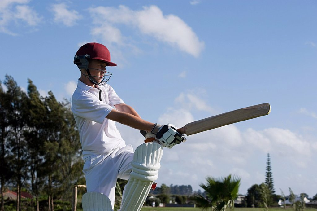 Stock Photo: 1439R-1122557 Auckland, cricket player