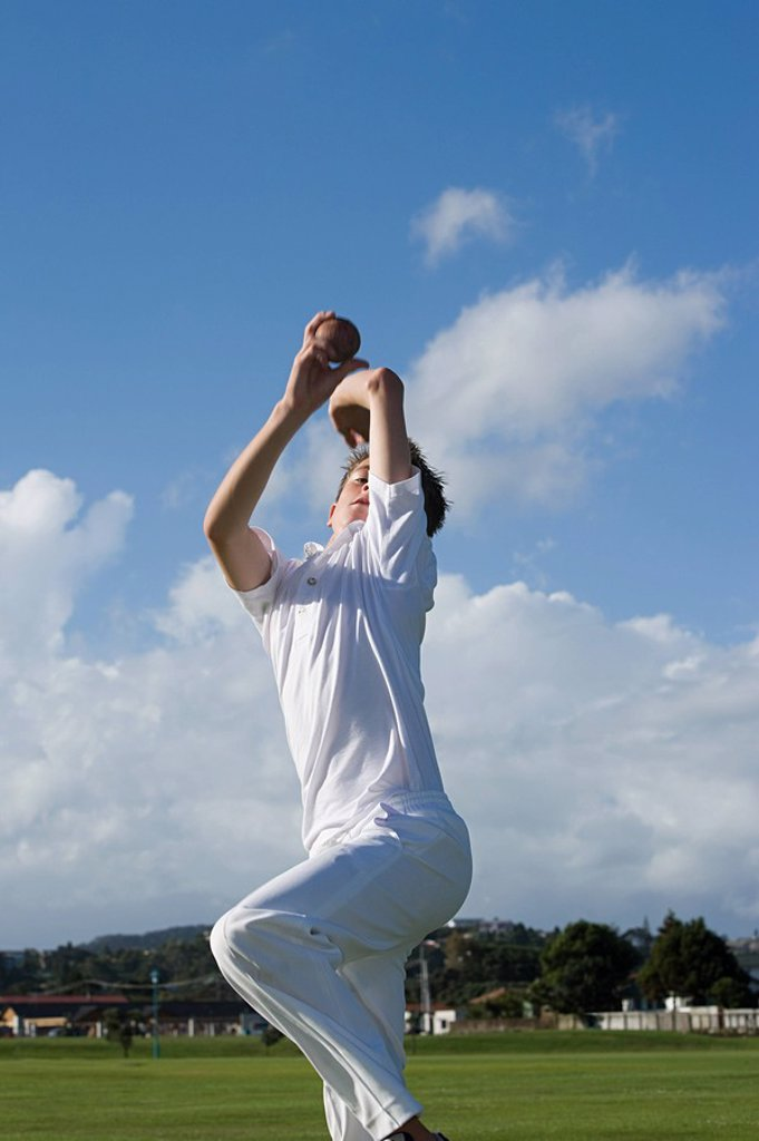 Auckland, cricket player : Stock Photo