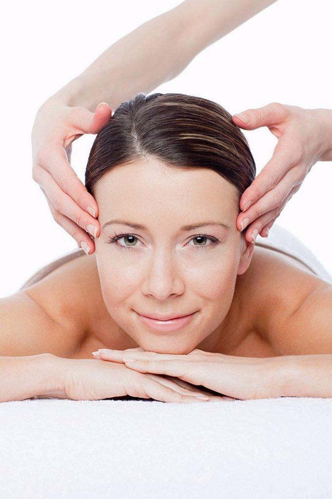 Stock Photo: 1439R-1123008 Woman having face massage