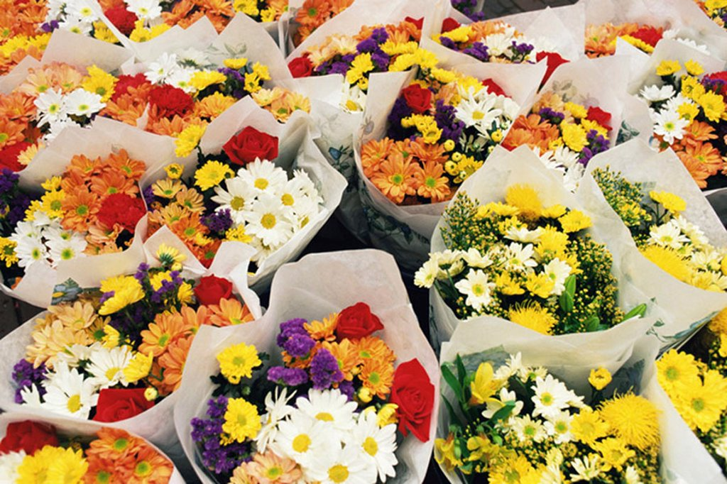 Stock Photo: 1439R-1124073 Bunches of flowers