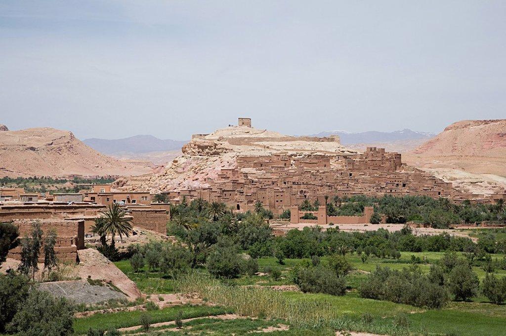 Ait Benhaddou kasbah, Souss_Massa_Draa, Morocco : Stock Photo