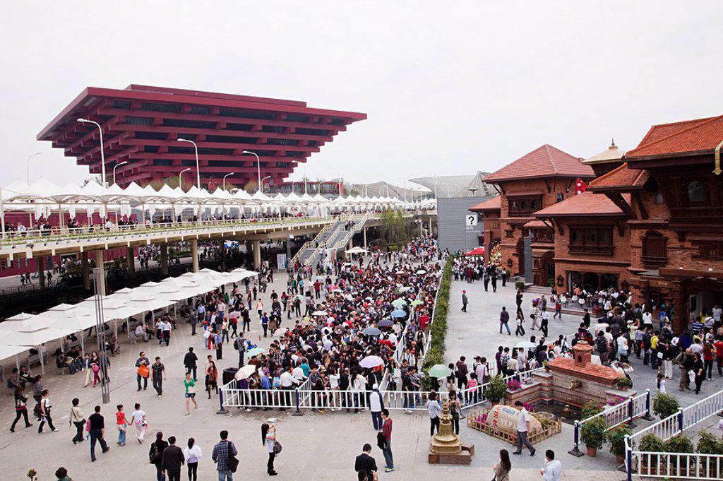 Stock Photo: 1439R-1127652 China, shanghai, 2010 world expo