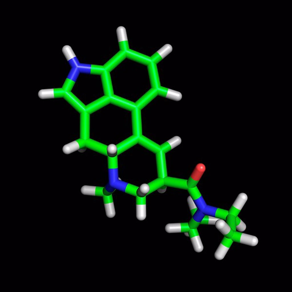 Stock Photo: 1439R-1127753 LSD molecule