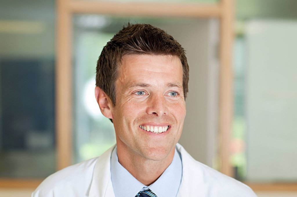 Stock Photo: 1439R-1128456 Portrait of a male doctor