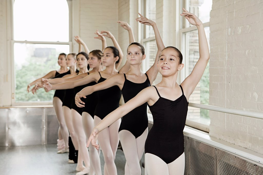 Stock Photo: 1439R-1130046 Ballerinas in pose