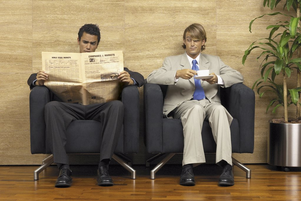 Stock Photo: 1439R-113019 Businessmen having a break