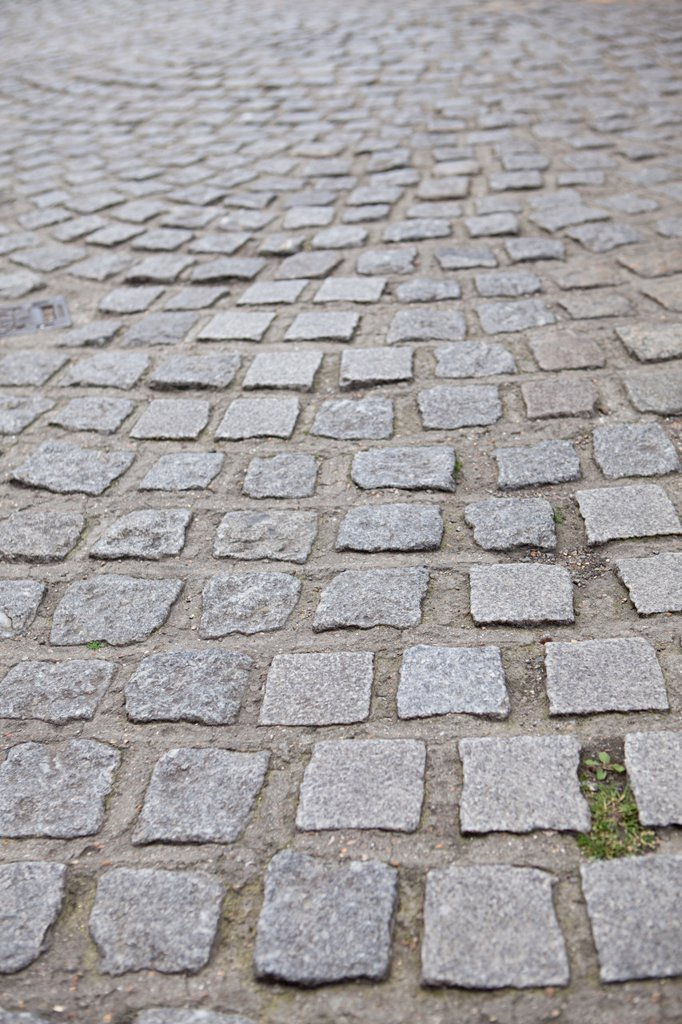 Cobbled street in London : Stock Photo