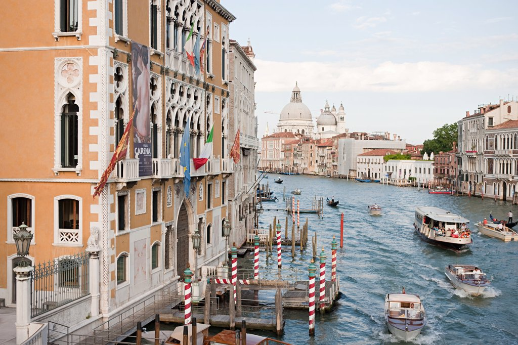 Stock Photo: 1439R-1130397 Boats on Grand Canal, Venice, Italy