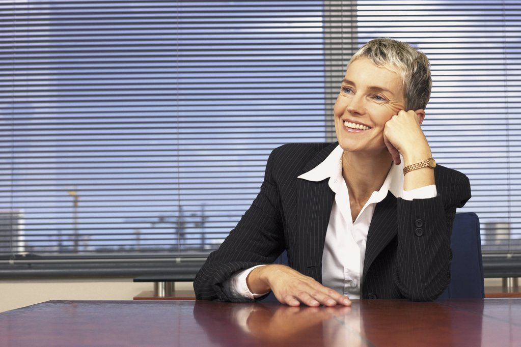 Stock Photo: 1439R-113042 Businesswoman in office