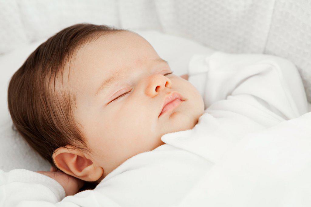 Sleeping baby girl : Stock Photo