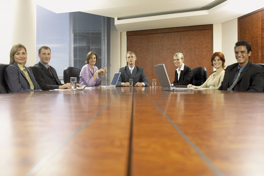 Businesspeople in boardroom : Stock Photo